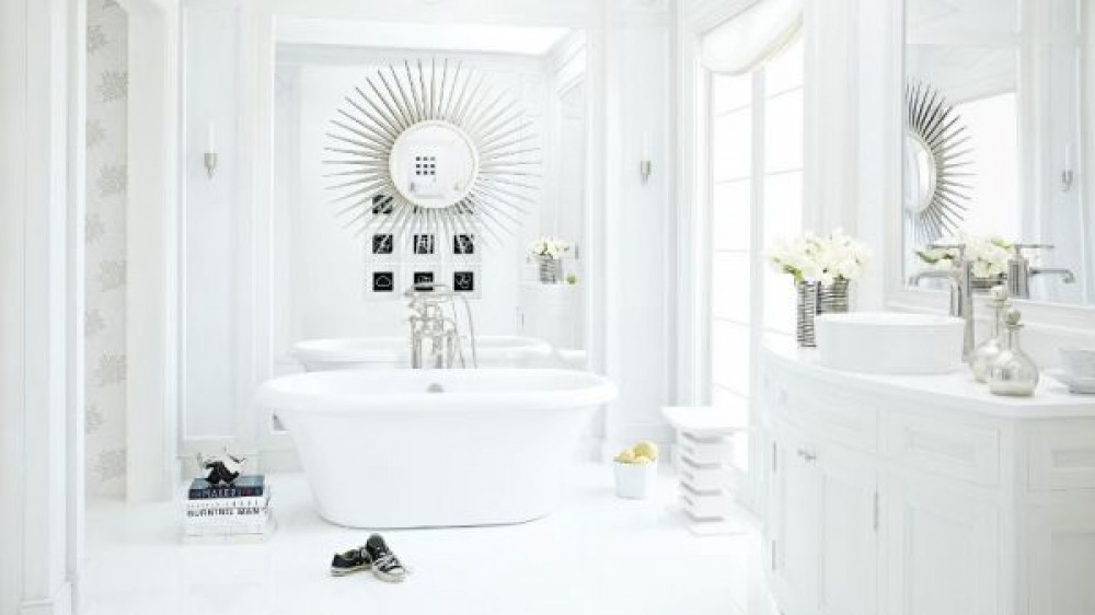 White Quartz Bathroom